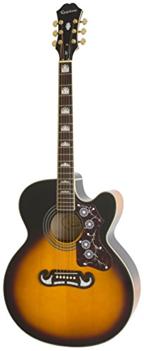 Epiphone EJ-200SCE Acoustic/Electric Guitar (Vintage Sunburst)