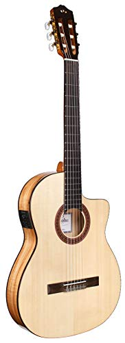 Cordoba Guitars Iberia Series, 6-String Acoustic-Electric Guitar, Right, Spalted Maple, Cutaway Thin Body (04662)