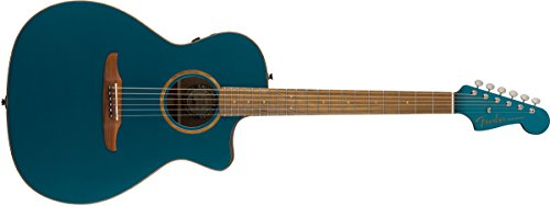 Fender Newporter Classic - California Series Acoustic Guitar - Cosmic Turquoise with Gig Bag
