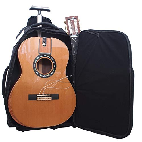 Collapsible Nylon String Travel Guitar Classical Acoustic Electric Guitar - FC522 First Class Solid Cedar Solid Pau Ferro