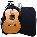 Journey Instruments Solid Cedar Travel Guitar – FC522 Traveler Acoustic-Electric Collapsible Classical Guitar – Portable Backpack Case (Nylon String)