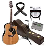 Takamine EF360SC TT Thermal Top Series Acoustic-Electric Guitar w/Case, Cable, S
