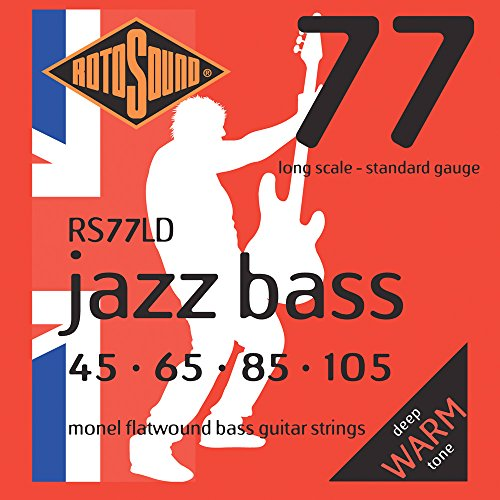 Rotosound RS77LD Monel Flatwound 45 65 85 105 Bass Guitar Strings