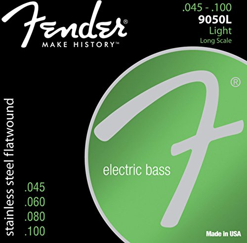 Fender 9050 Stainless Flatwound Bass Guitar Strings (0739050403)