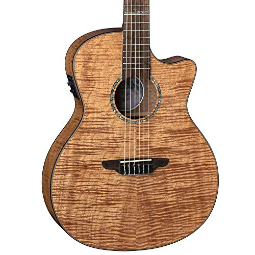 Luna Guitars High Tide Grand Concert Nylon 6 String Acoustic/Electric Guitar, Right, Mahogany (HT EXM NYL)