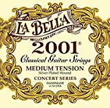 La Bella 2001 Classical-Medium Tension Guitar Strings, Extremely Flexible - Offers a Warm, Bright and Well-Balanced Classical Tone