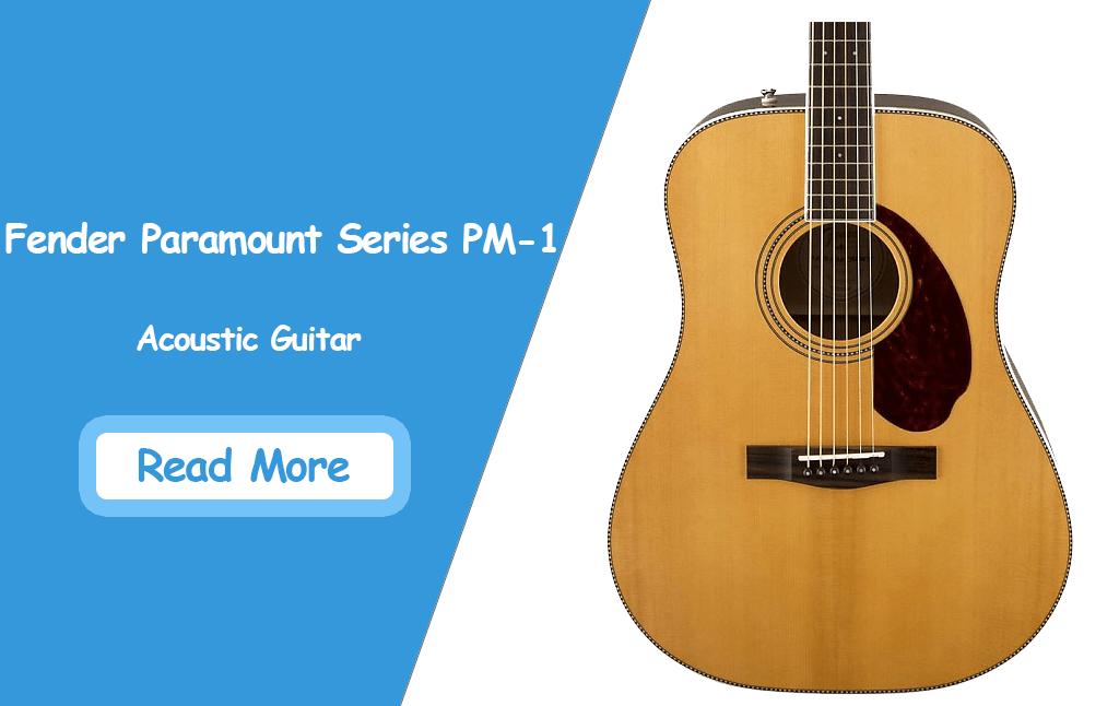 Fender Paramount Series PM-1 Acoustic Guitar Review 2020
