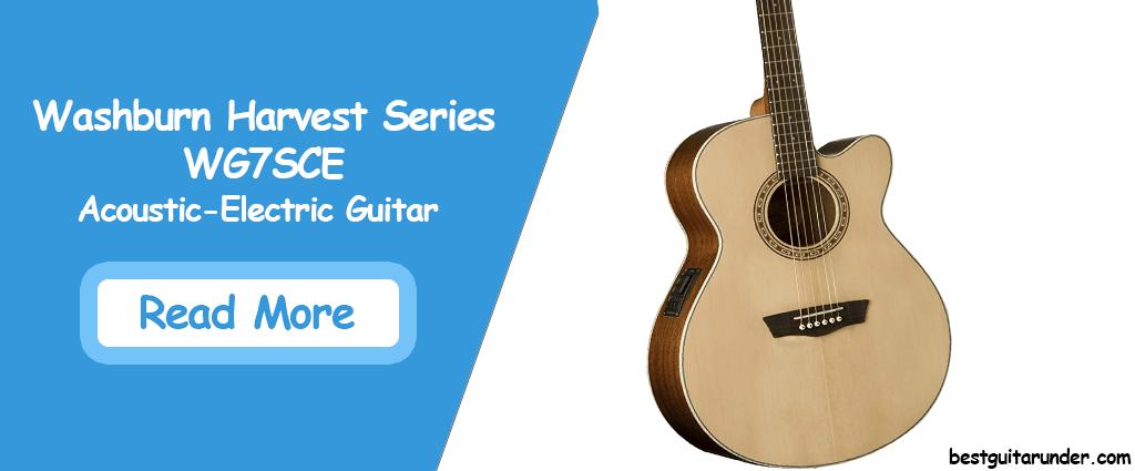 Washburn Harvest Series WG7SCE Acoustic Electric Guitar